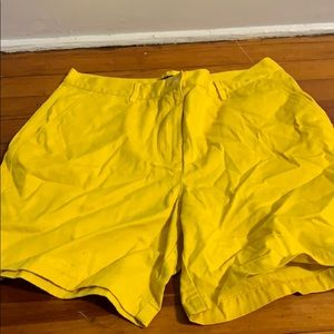 Yellow Ralph Lauren Shorts